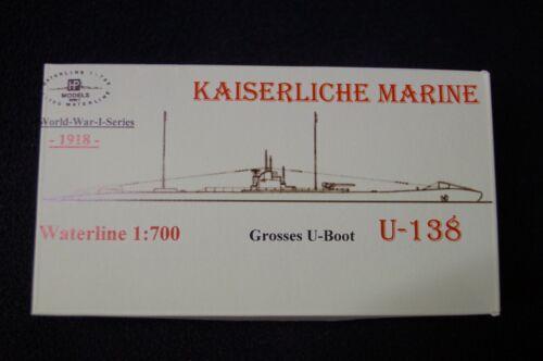 HP Models 1:700  WL   Großes U-Boot   U-138   der Kaiserlichen Marine 1918