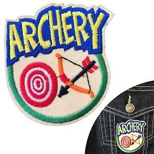 Archery-iron-on-patch-bow-arrow-target-sport-embroidery-iron-on-transfer-patches