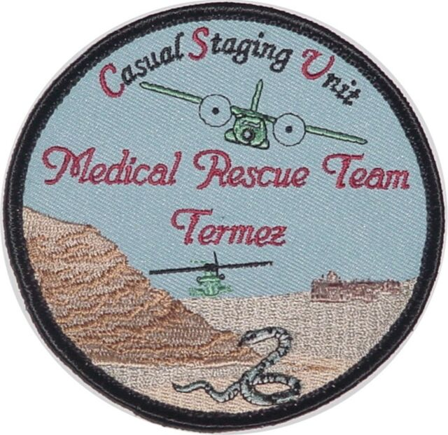 Air Force Sew-On Patch Patch ISAF Medical Rescue Team Termez CSU a2820k