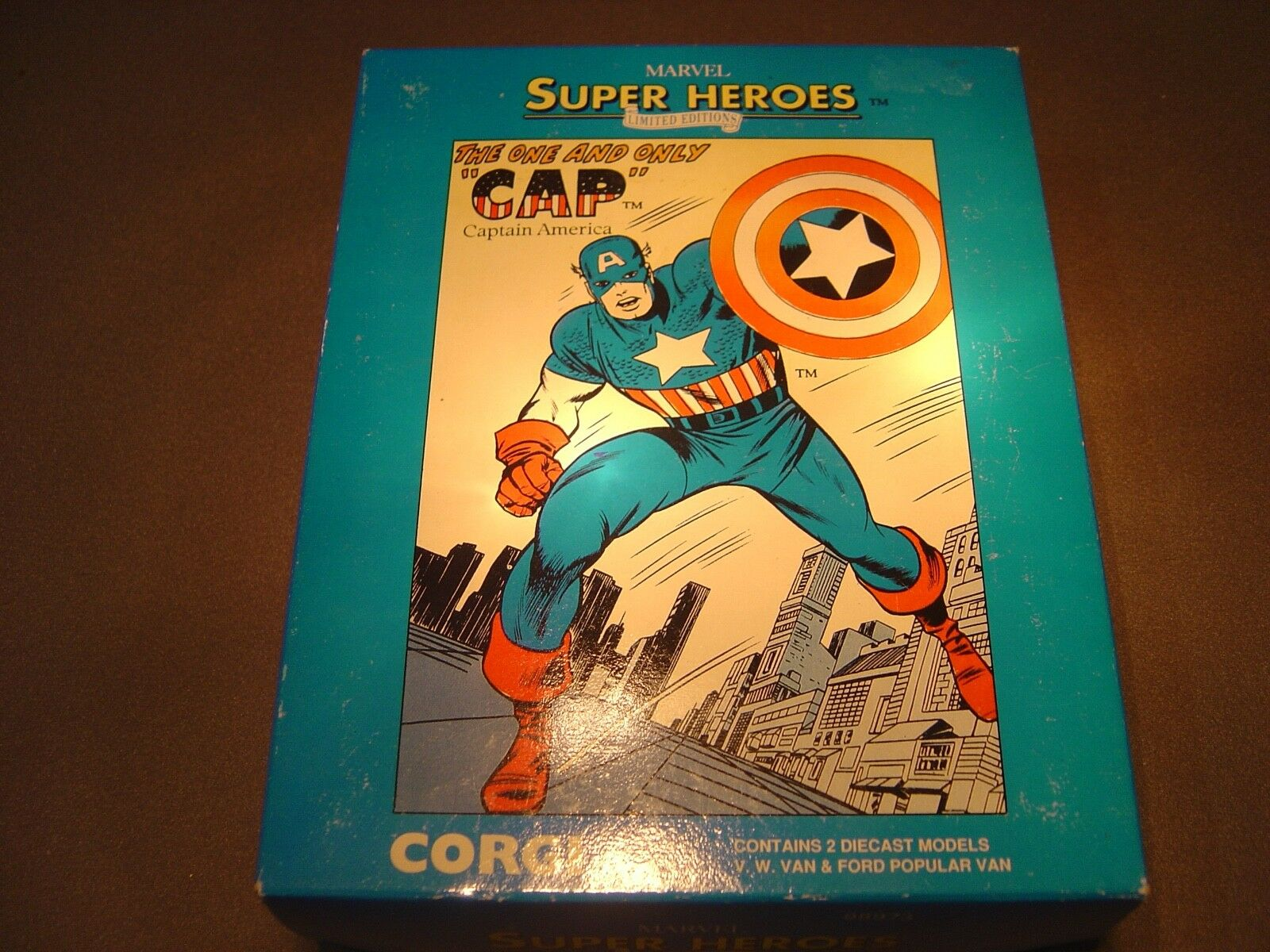 MARVEL CAPTAIN AMERICA 2 X CORGI LIMITED EDITIONS DIECAST MODELS
