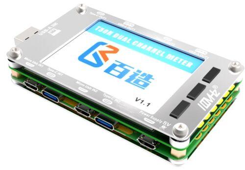 T50N Dual Color USB Voltage Current Power Capacity Meter QC2.0 QC3.0 PD Test