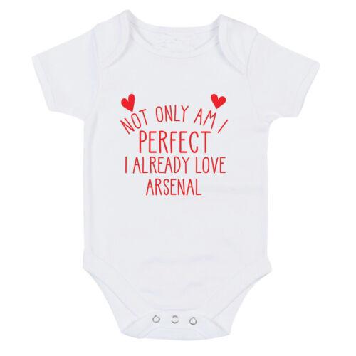 Arsenal Parfait J/'ai déjà Love Baby Grow Body Costume ou TAILLE UNIQUE Bib