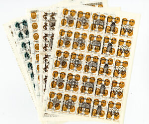 L-039-Ukraine-des-timbres-18-complet-intact-feuilles-avec-Judaica-ovpts-60x-par-feuille