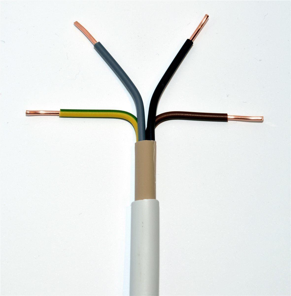 100m NYM-J 4x10 mm² Mantelleitung grau Installationsleitung Feuchtraumleitung