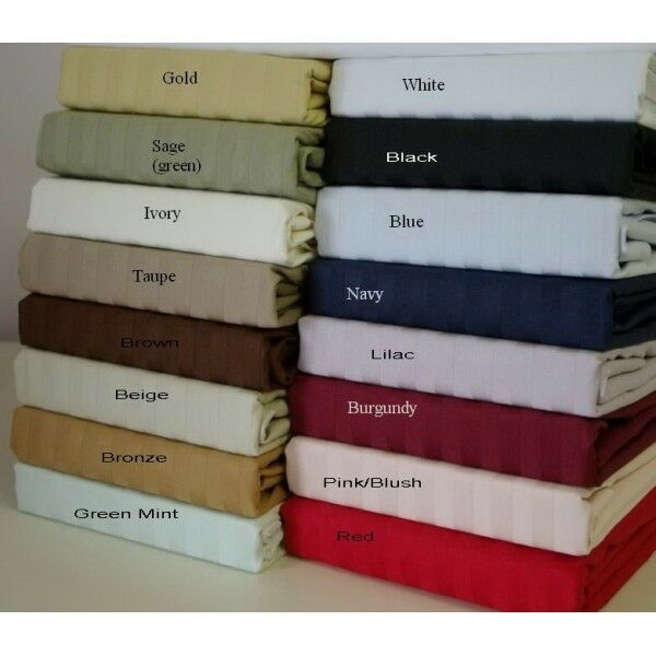 Olympic Queen Size 3PC Fitted Sheet Set OR 3PC Flat Sheet 1000tc Egyptian-Cotton