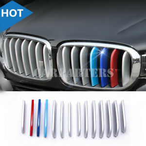 For-BMW-X6-F16-ABS-Front-Center-Grille-Grill-Molding-Cover-Trim-14pcs-2015-2018