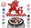 Unicorn Dabbing Glitter Cake Topper Birthday Any Name Any Age