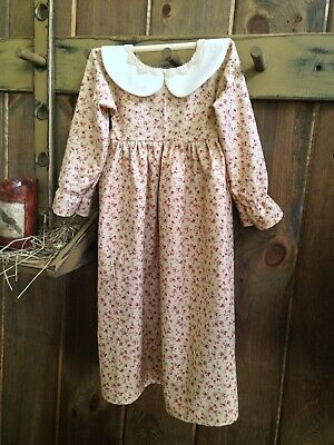 Primitive Colonial Handmade Extreme Prim Prairie Dress Farmhouse Homestead Decor