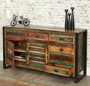 Urban Chic Reclaimed Indian Wood Furniture Large Living Dining Room
