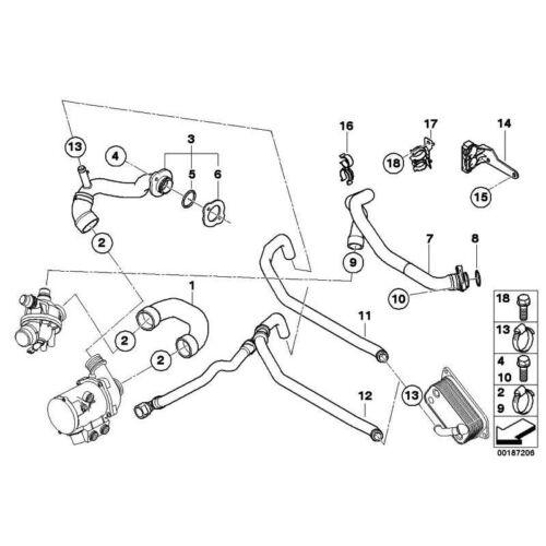 ORIGINALE BMW 11537555977-Distanziatore 1er 3er 5er 6er 7er x1 x3 x5 z4