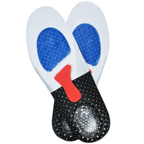 Semelle en Gel Orthèses Absorption des Choc Confort Chaussures Intérieur Unisexe