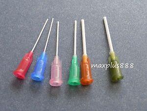 Blunt end plastic needles plastic tapered tips 100 pcs 14Ga to 25Ga