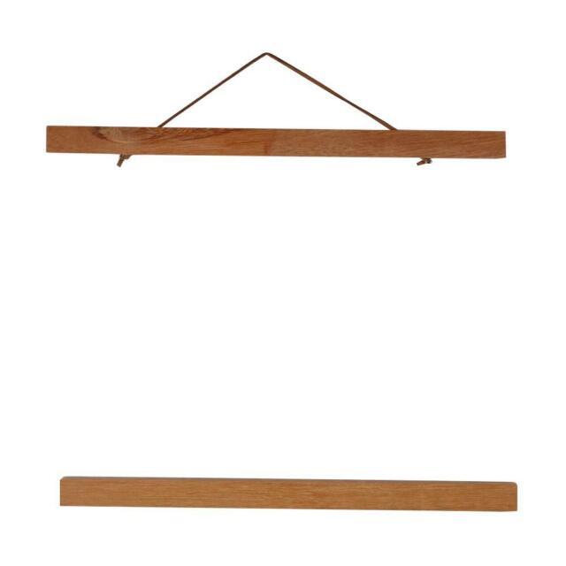 Wood Frame Hanger Magnet Poster Picture DIY Wall Art Decor Simplify Vintage #T