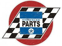 Chrysler Parts Round Tin Metal Sign