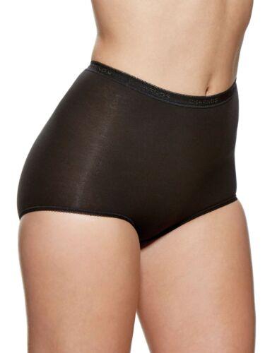 Charnos Maxi Briefs 2 Pack Style 138910 Black  Nude White Cotton Rich Briefs