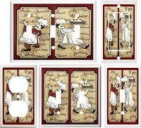Italian Fat Chef Kitchen Home Decor Light Switch Cover Or Outlet V770