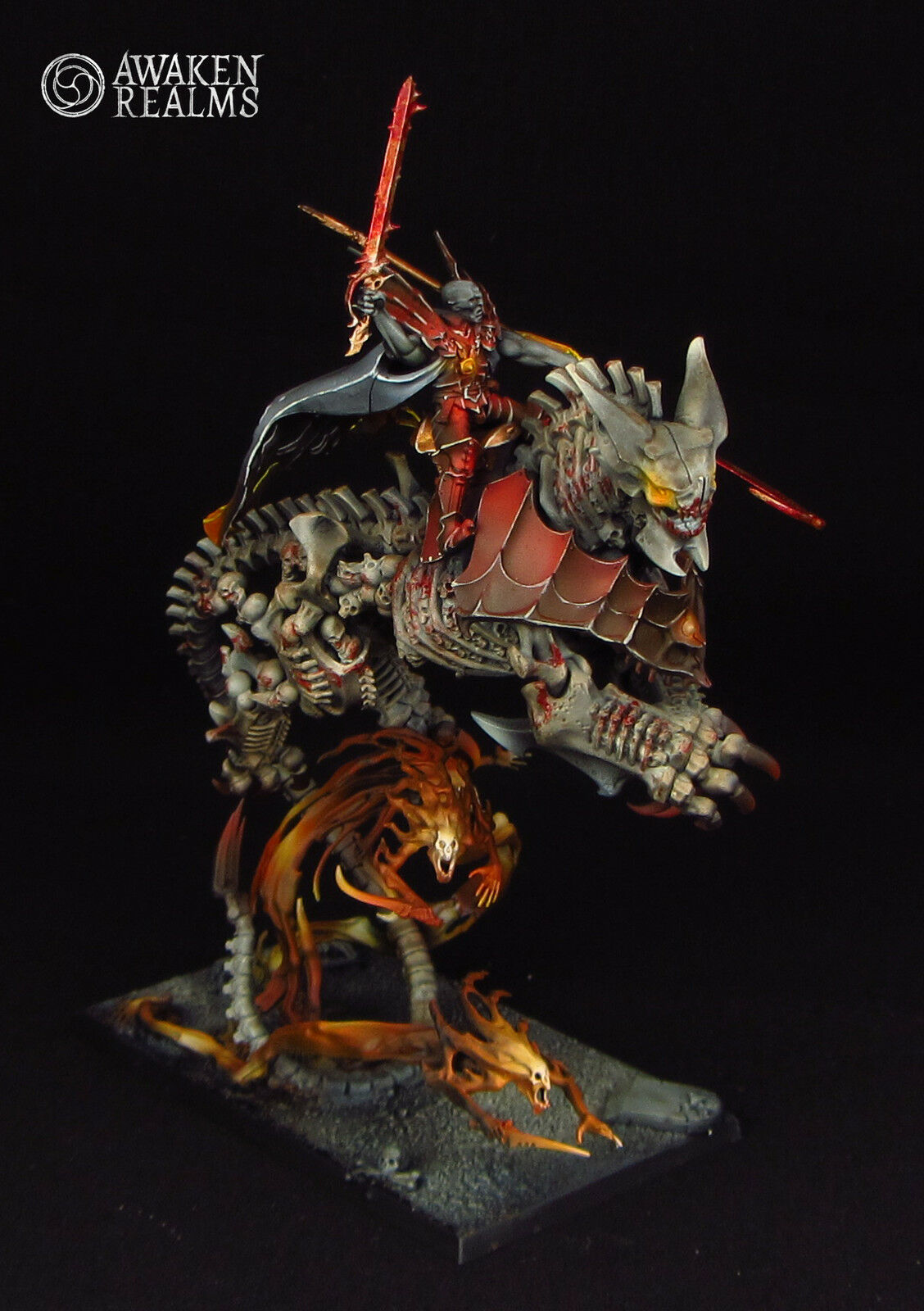 Vampire Counts Mannfred von Carstein - - - Mortarch of Night - painted (commission) cc0c07