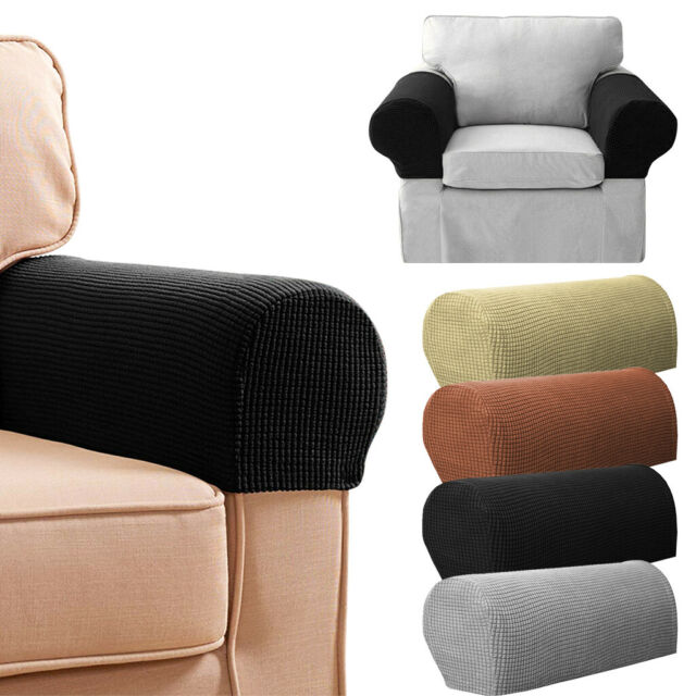2 Pcs Armrest Covers Stretchy Set Chair Or Sofa Arm Protectors