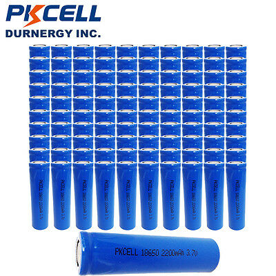 500x Wholesale PKCELL 18650 Rechargeable Li-ion Battery 3.7V Genuine 2200mAh