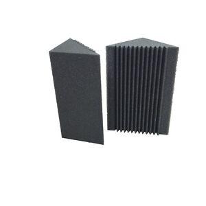 Charcoal Acoustic Foam Corner Sound Bass Traps Sponge Studio Panel 8 PCS