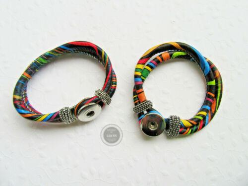 Ethnolook Farbwahl 20,5 cm für Chunks ca 1 Armband mit Schiebeverschluss