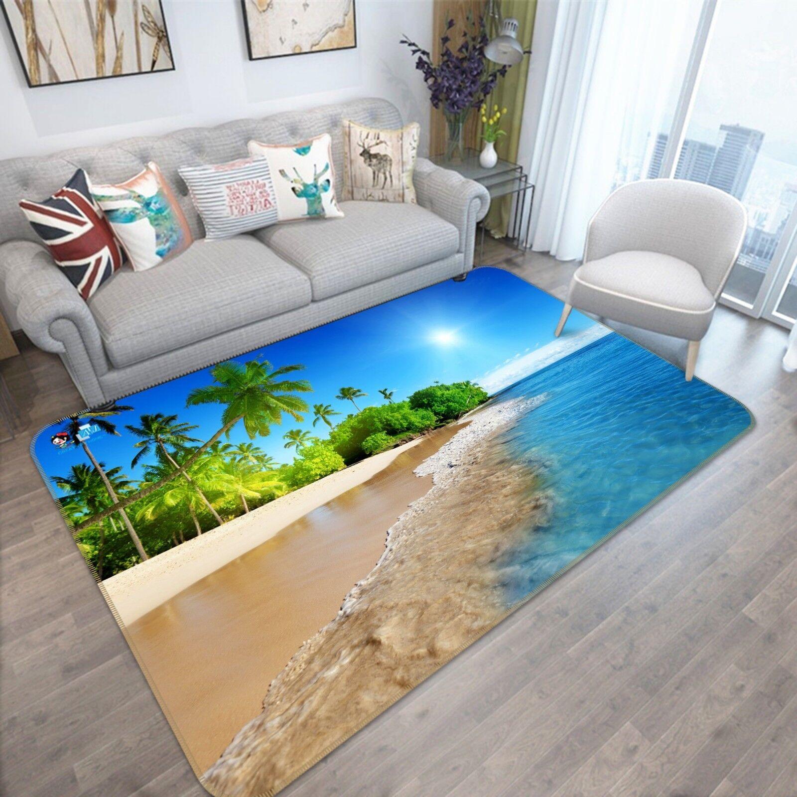 3D Beach Coco 88 Non Slip Rug Mat Mat Mat Room Mat Quality Elegant Photo Carpet AU 13b19d