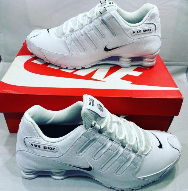 🔥Nike Shox NZ EU White Black 501524-106 Running Shoes Men's multiple Sizes