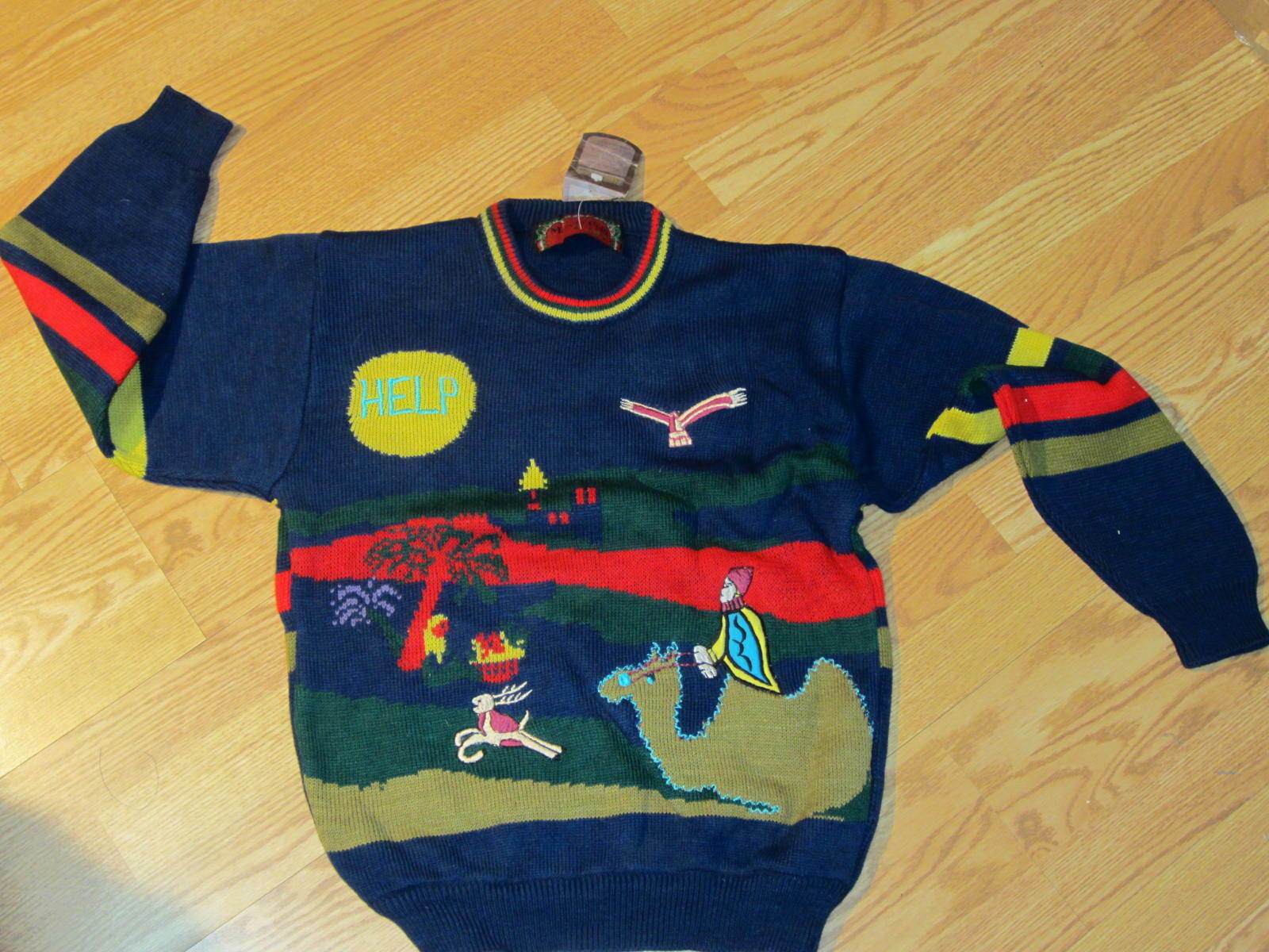 Marc O'Polo Jesus Jet sweater Jesus O'Polo in the Manger Uomo's Medium ugly sweater a03fda