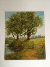 Landscape Oil Painting Vintage Countryside Niave