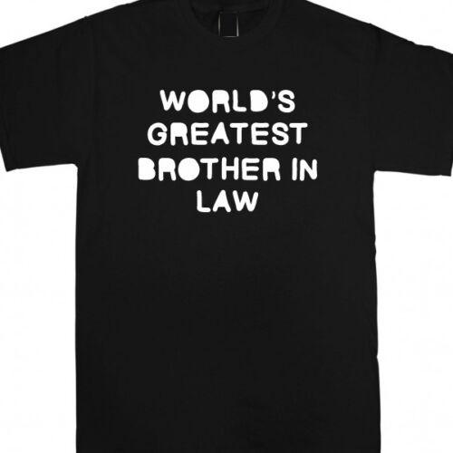 Worlds greatest brother in law personnalisé cadeau de noël t shirt travail nouveau travail bro