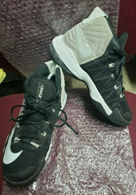 hot sale online b5b85 25bed Nike Air Audacity Men s Basketball Shoes Black White Gray 843884-001 Size 9
