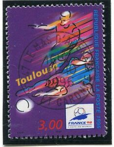 TIMBRE-FRANCE-OBLITERE-N-3011-FRANCE-98-FOOTBALL-Photo-non-contractuelle