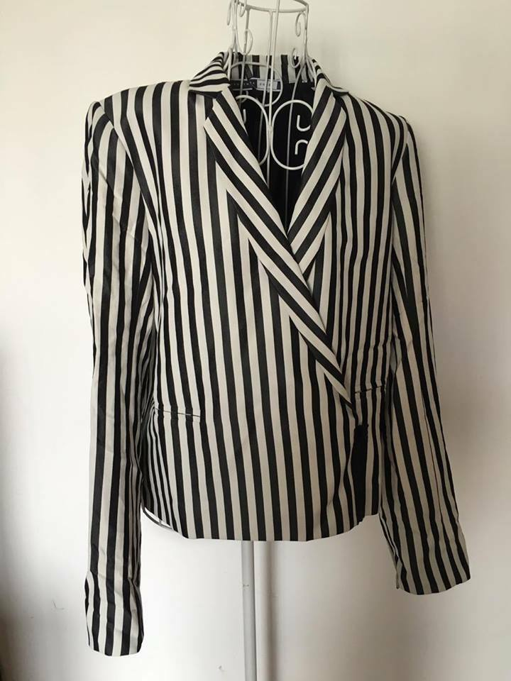 BNWT US 643 Sportmax Code max mara voiturebone blazer veste stripe I40 F38 UK8 US6