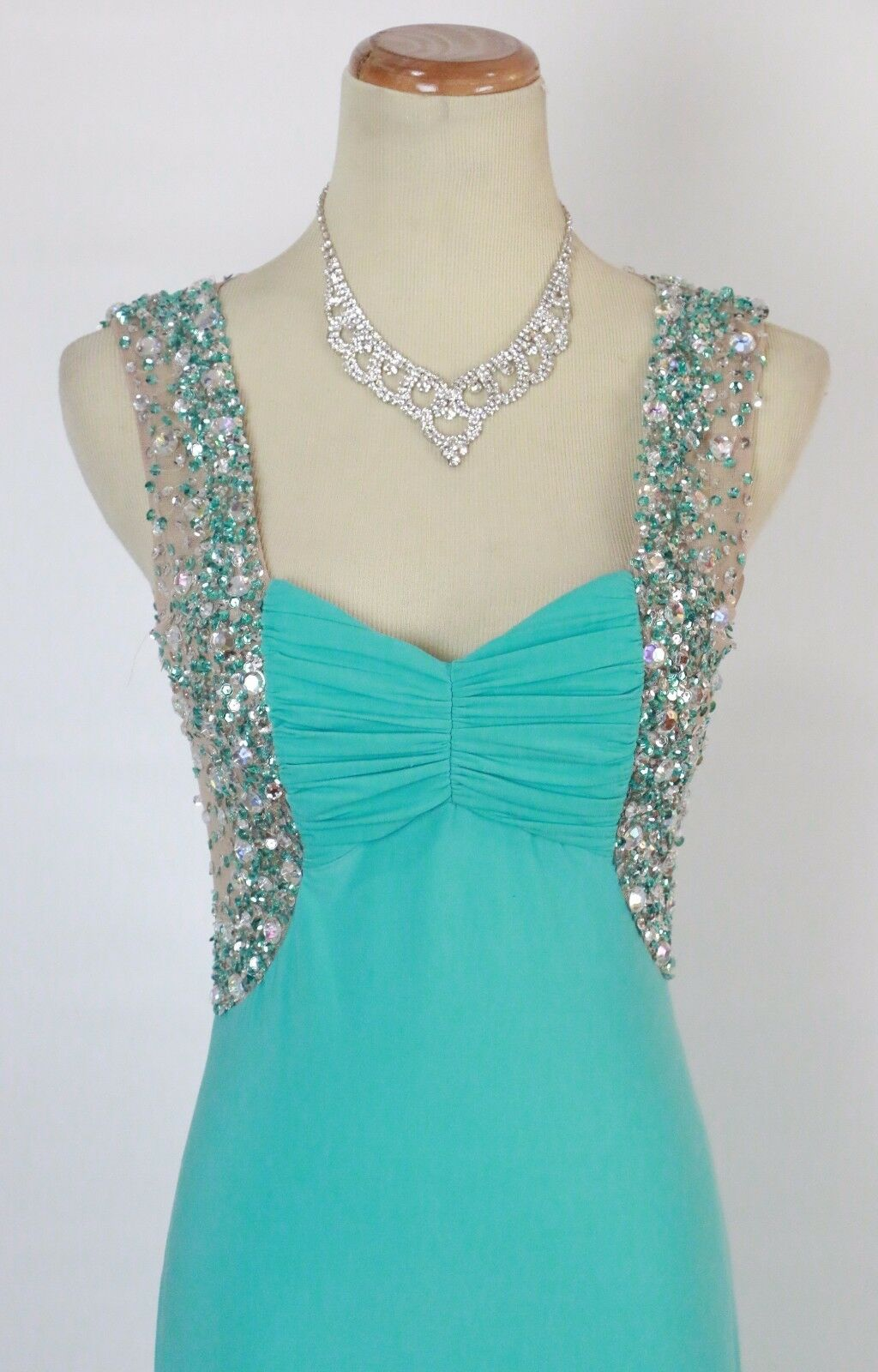NWT Prom Formal Cruise Dress SIZE 3 Gown  New Mint Long Dress Blondie Nites