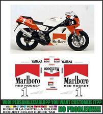 kit adesivi stickers compatibili tzr 125 r red rocket 1993 4dl
