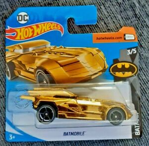 Mattel-Hot-Wheels-Batimovil-oro-3-5-Nuevo-Sellado