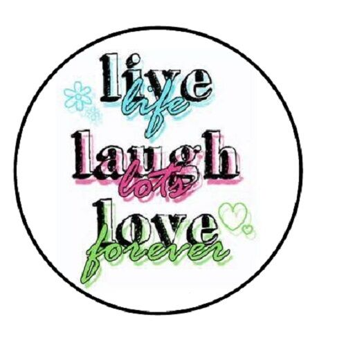 "48 Live Laugh Love!! ENVELOPE SEALS LABELS STICKERS 1.2/"" ROUND"