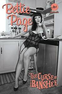 Bettie Page & Curse of the Banshee 1 Cosplay B&W Incentive Variant 1:40 New NM