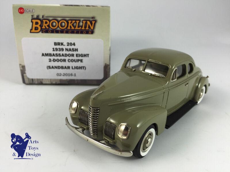 1 43 brooklin 204 nash ambassador eight  2 door coupe 1939  haute qualité et expédition rapide