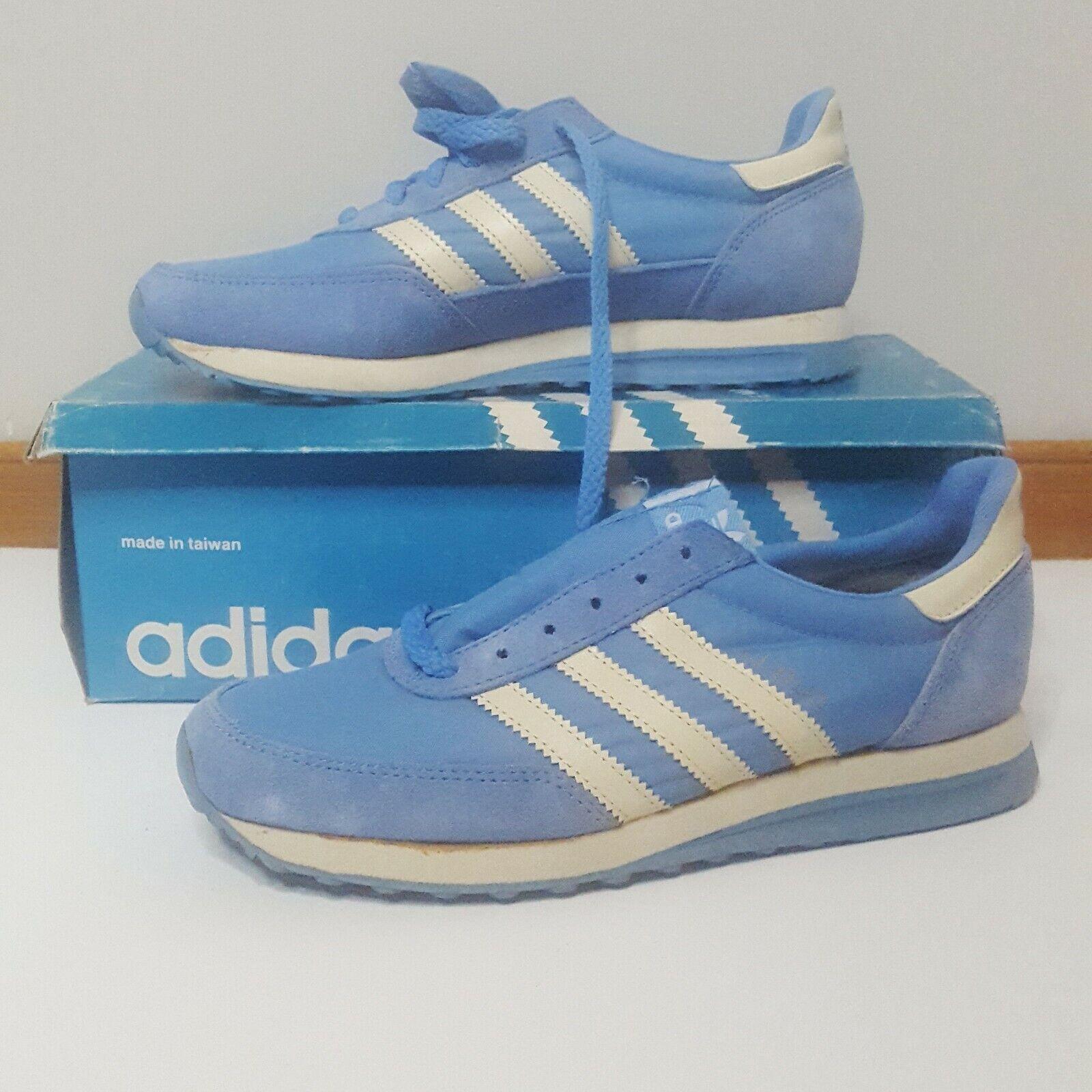 Vintage 1980er Jahre Adidas Cloud Ice Blau Cream Trainer NIB