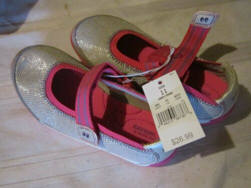 Surprize by Stride Rite Toddler 6 Or Girls 11 Kandace Grey Pink Casual Shoes NEW