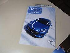 Mazda AXELA Sedan Sport MazdaSpeed Japanese Brochure 2011/09 BL  Mazda3