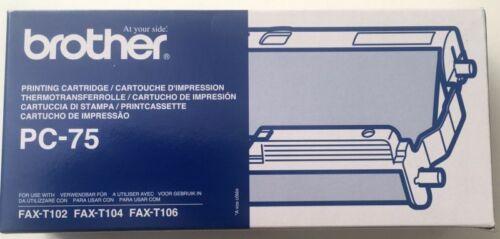 Brother PC-75 Mehrfachkassette und Faxrolle für Fax T102 T104 T106 OVP B