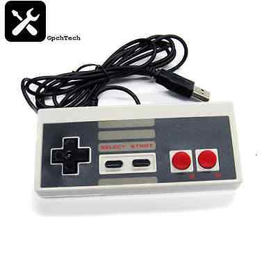 NES Style Retro USB Controller for WIN/MAC/Raspberry Pi/Retropie * UK Seller *