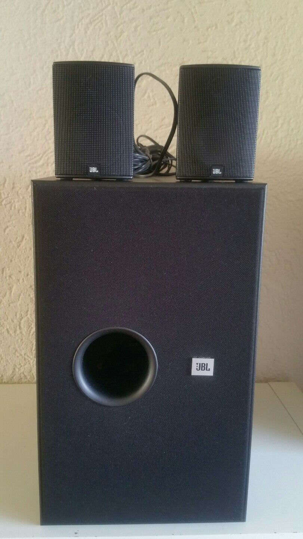 JBL SMS 100 Subwoofer +2 x jbl 100 sat Satellite 2 way Speaker-Made in Denmark