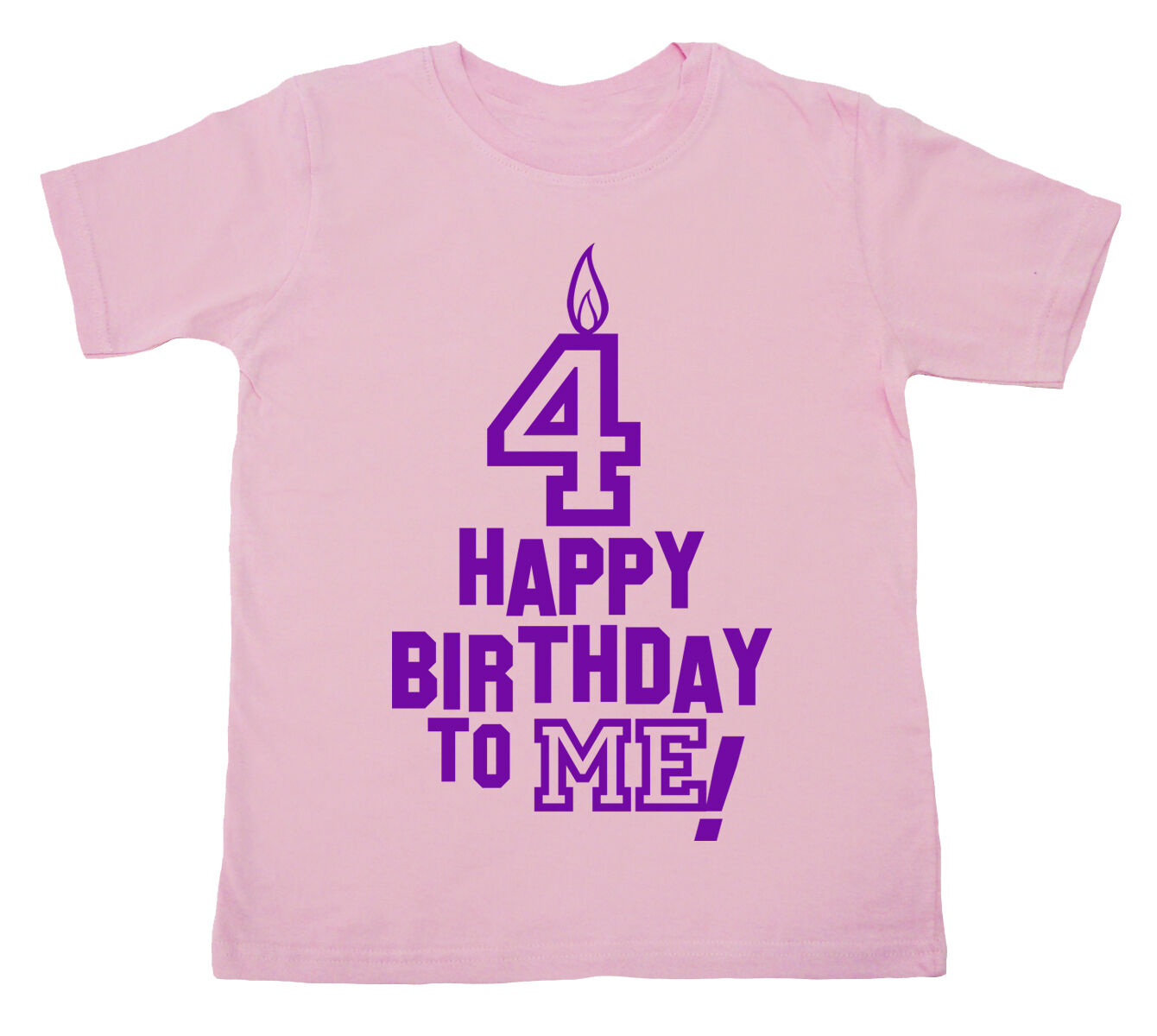Details About 4 Birthday T Shirt Happy To Me Boy Girl 4th Forth Four Party Clothes