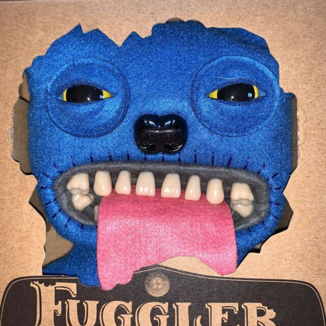 "9"" Oogah Boogah Blue Felt With Tongue Fuggler Brand New In Box With Certificate"