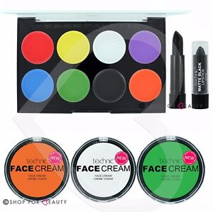 Technic-Face-Body-Paint-Palette-Set-Kit-Halloween-Makeup-Painting-Witch-Pumpkin