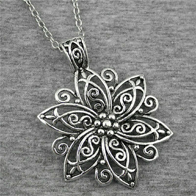 Silver Double sided Cross Pendant on Bail 6.5 cm long DIY Make a necklace