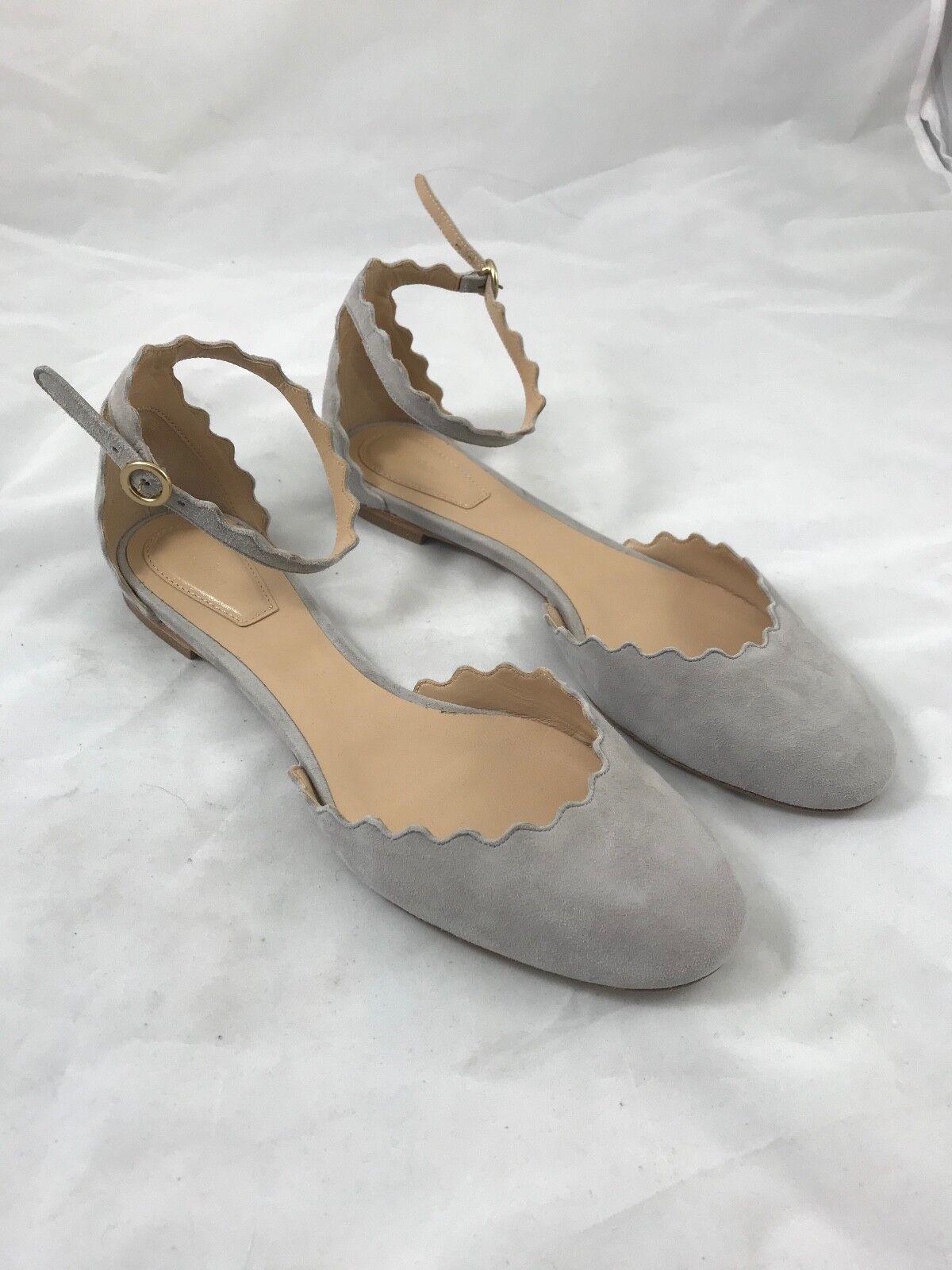 consegna diretta e rapida in fabbrica NIB Chloé Suede Ballerina scarpe in in in Elephant grigio Dimensione 36.5  595  economico e di alta qualità
